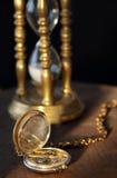 Zakhorloge en sandglass royalty-vrije stock foto