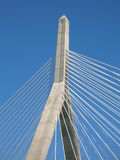 Zakim. The Leonard P. Zakim Bunker Hill Bridge, Boston Royalty Free Stock Image