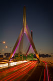 Zakim地堡在波士顿,马萨诸塞,美国 免版税图库摄影
