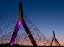 Αποθήκη Zakim στη Βοστώνη, Μασαχουσέτη, ΗΠΑ Στοκ φωτογραφία με δικαίωμα ελεύθερης χρήσης