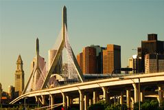 Zakim-Brücke, Boston stockfotografie