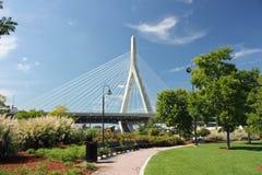 Zakim Bridge. The Leondard Zakim Bridge in Boston Stock Photo