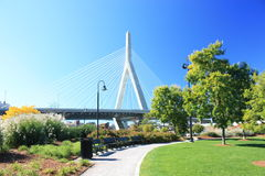Zakim Bridge Boston Royalty Free Stock Photo
