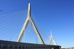 Zakim Bridge Boston. The Leonard P Zakim Bridge in Boston Stock Images