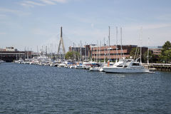 Zakim bridge in city Boston Stock Photos