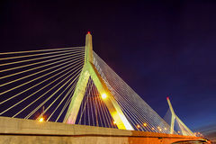 Zakim Bridge at Night Royalty Free Stock Photos