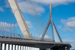 Zakim Bunker Hill Memorial Bridge in Boston, USA stock image