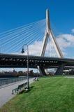 Zakim bunkieru wzgórza pomnika most w Boston, usa Zdjęcie Stock