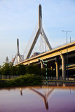 zakim leonard мемориальное p холма дзота моста Стоковая Фотография