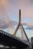 Zakim most przy zmierzchem Fotografia Stock