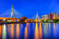 Zakim most w Boston Zdjęcie Royalty Free