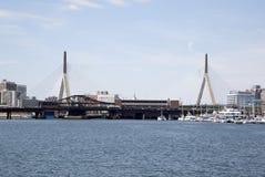 Zakim most w mieście Boston Obrazy Royalty Free