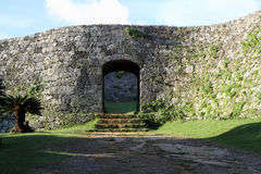 Zakimi castle in Okinawa. Japan Royalty Free Stock Photo