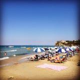 Zakinthos strand royaltyfria bilder