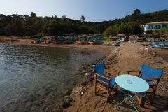 Zakinthos, Strand Griechenland lizenzfreies stockbild