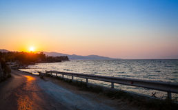 Zakinthos, Strand Griechenland, Sonnenuntergang Stockfotografie
