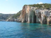 Zakintos希腊从山的海视图 免版税图库摄影
