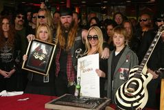 Zakk Wylde. And his family at a ceremony to induct him into Hollywood's Rockwalk. Sunset Boulevard, Hollywood, CA. 01-17-06 royalty free stock image