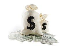 Zakken geld Stock Foto