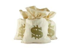 Zakken geld Stock Afbeelding