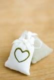 Zakken met hartsymbool Stock Fotografie