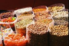 Zakken van suikergoed en noten Stock Afbeelding