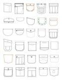 Zakken voor kleren royalty-vrije illustratie