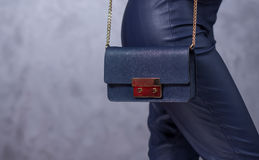 Zakkenmodetrends Sluit omhoog van schitterende modieuze zak Fashionab Royalty-vrije Stock Afbeelding