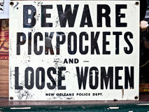 Zakkenrollers en losse vrouwen Royalty-vrije Stock Afbeeldingen