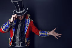 zaklinacza drogi iluzjonisty mężczyzna kostium Obraz Stock