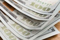 Zakończenie Amerykańscy Dolarowi banknoty zdjęcie royalty free