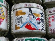 Zakończenie w górę obrazka sztuka dla sztuki baryłka przy Mejii świątynią w Tokio zdjęcie royalty free