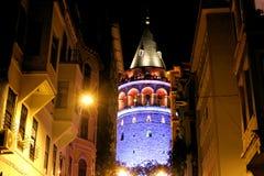 Zakończenia Galata wierza, Beyoglu Istanbuł obrazy royalty free