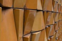 Zakończenia miasta ornamentacyjna ceglana zewnętrzna ściana Zdjęcia Royalty Free