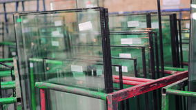 Zakończenia nadokienny szkło przy nadokienną fabryką 4K zdjęcie wideo