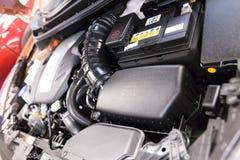 Zakończenia up otwarci szczegóły nowy samochodowy silnik Obrazy Royalty Free