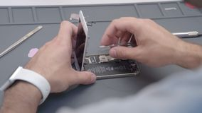 Zakończenia wideo seansu proces telefon komórkowy naprawa zbiory
