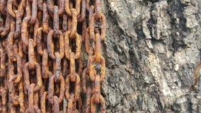 Zakończenie łańcuchów starej ośniedziałej tekstury brudna stal Zdjęcia Royalty Free