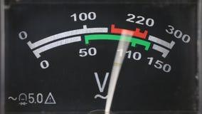 Zakończenie analogowy voltmeter zbiory wideo