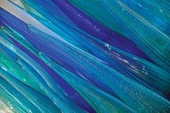 Zakończenie błękita i zieleni brzmienia gwiazdowa kształt rzeźba robić szkło w Murano obrazy stock