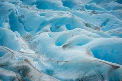 Zakończenie błękitna lodowiec powierzchnia Shevelev Obrazy Stock