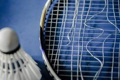 Zakończenie Badminton kanta nieobecność z wahadłowa koguta badminton zdjęcie stock