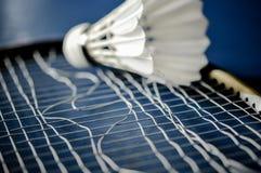 Zakończenie Badminton kanta nieobecność z wahadłowa koguta badminton fotografia stock