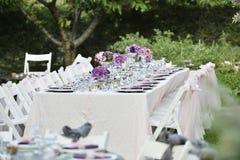 Zakończenie cateringu stołu set Obrazy Stock