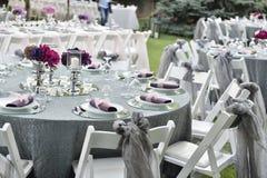 Zakończenie cateringu stołu set Zdjęcie Royalty Free