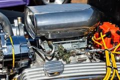 Zakończenie chrom dmuchawa na samochodzie obrazy royalty free