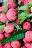 Zakończenie czerwone świeże Lychee owoc Obraz Stock