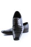 Zakończenie eleganccy mężczyzna buty na białym tle Zdjęcie Stock