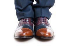 Zakończenie eleganccy mężczyzna buty, spodnia i Obraz Stock