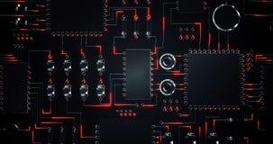 Zakończenie elektronicznego obwodu deska ilustracja wektor